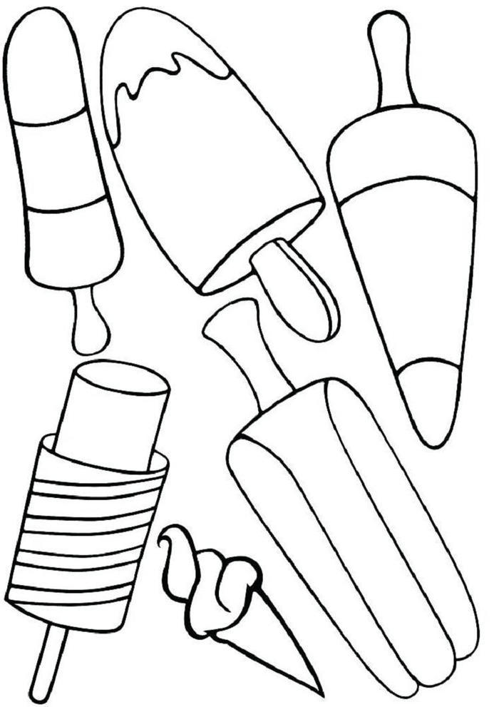 Lolly Ice Cream Coloring Pages
