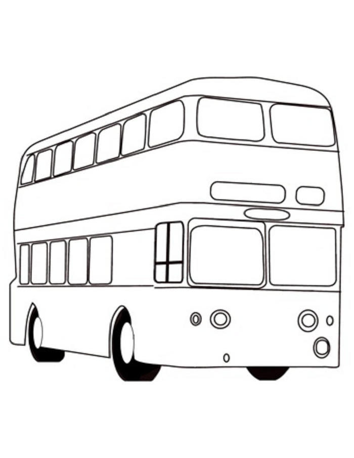 London Red Bus Coloring Pages