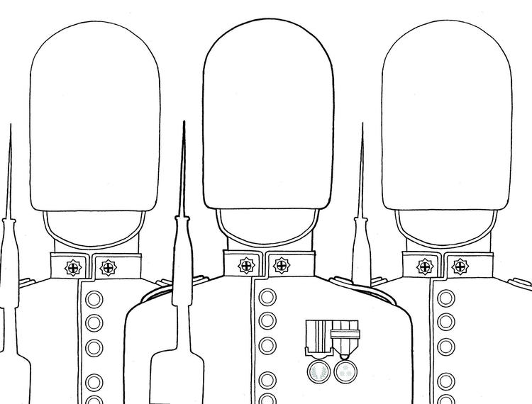 London Soldiers Coloring Pages