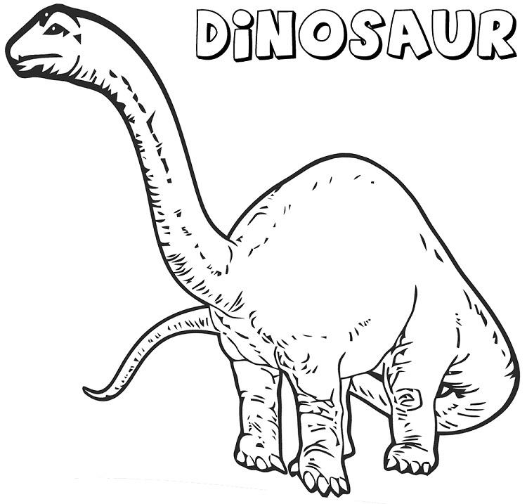 Long Neck Dinosaur Coloring Pages