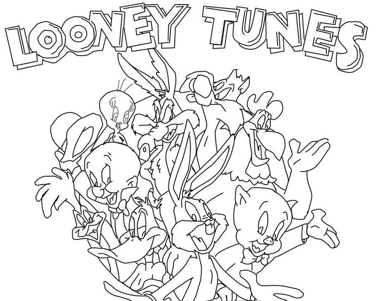 Looney Tunes Colouring Pages For Kids