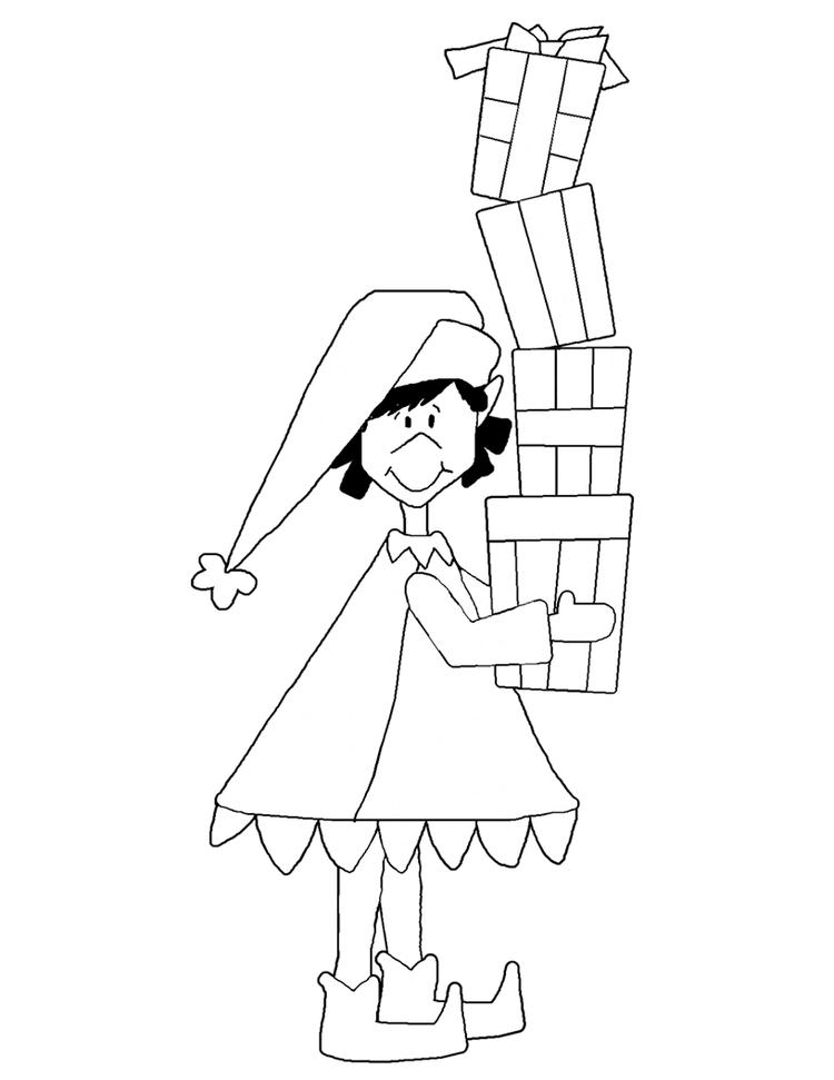 Lots Of Presents Christmas Coloring Page