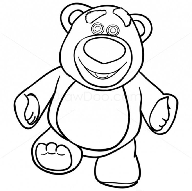 Lotso Bear Coloring Pages