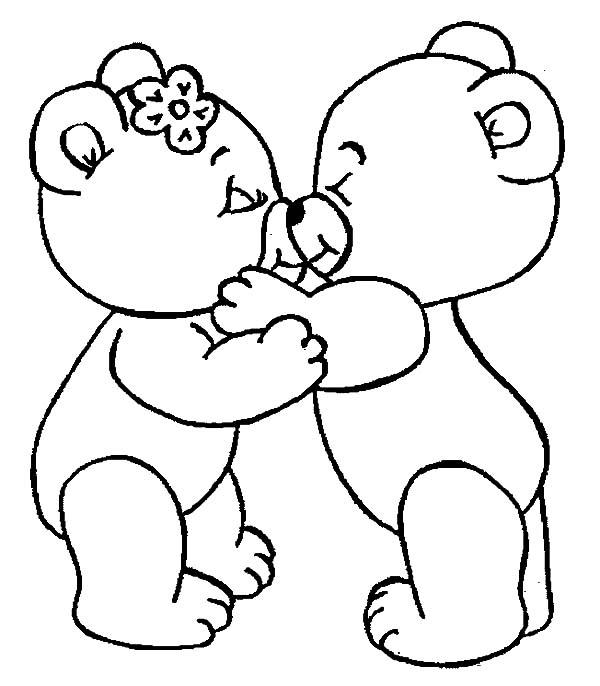 Love Coloring Pages Teddy Bear Love