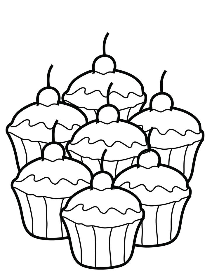 Love Cute Cake Coloring Pages