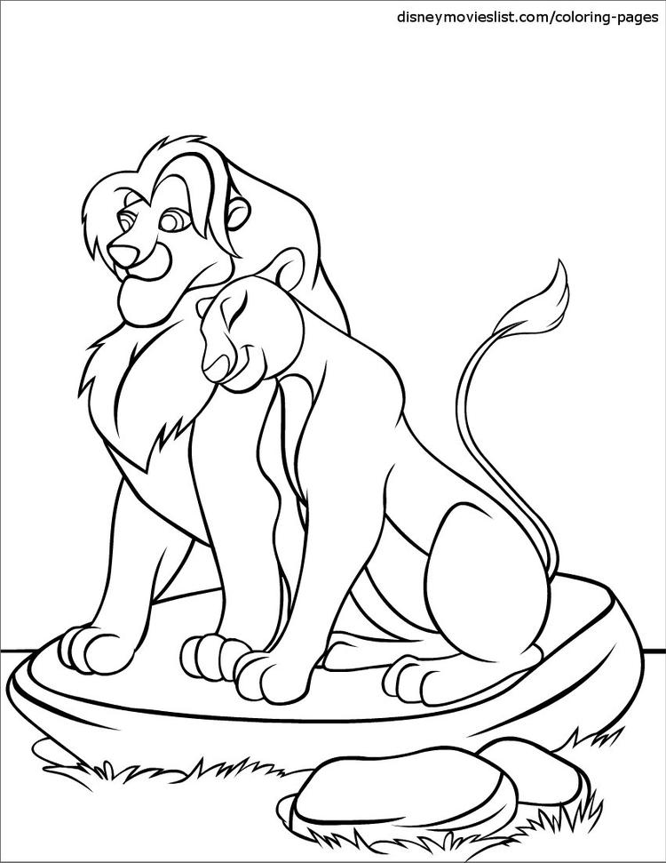 Love Disney Coloring Pages Lion King