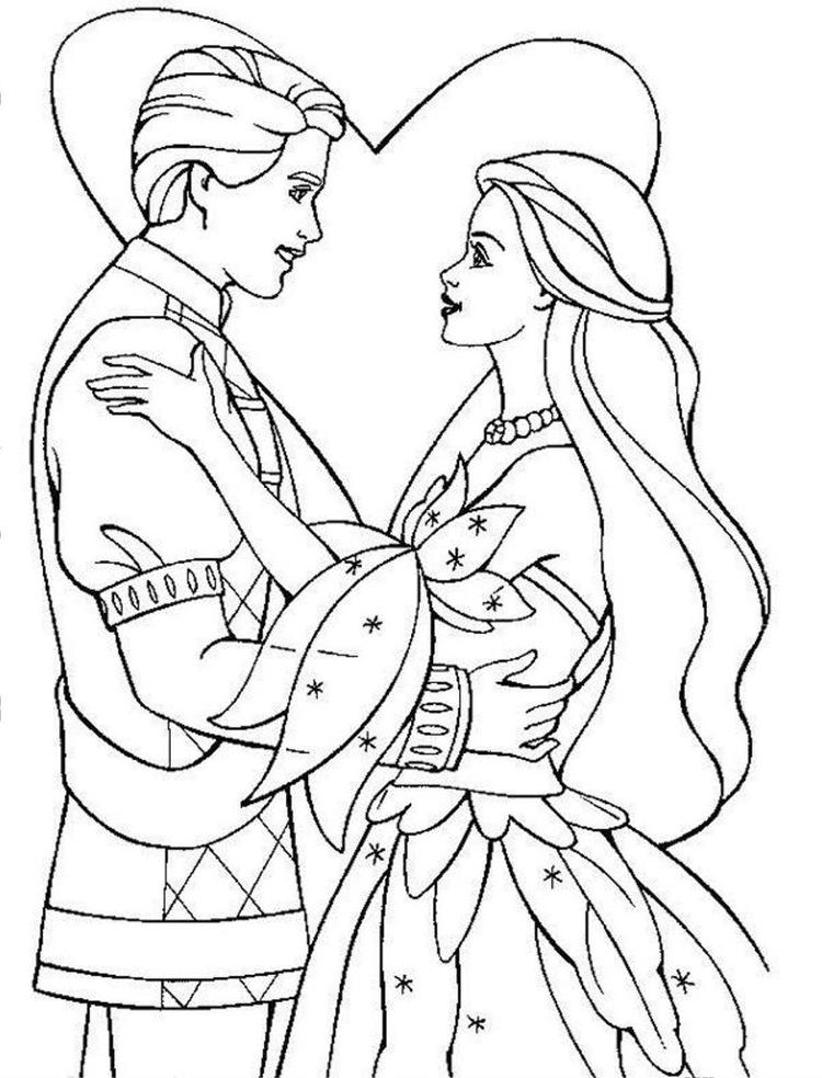 Love Disney Wedding Coloring Pages
