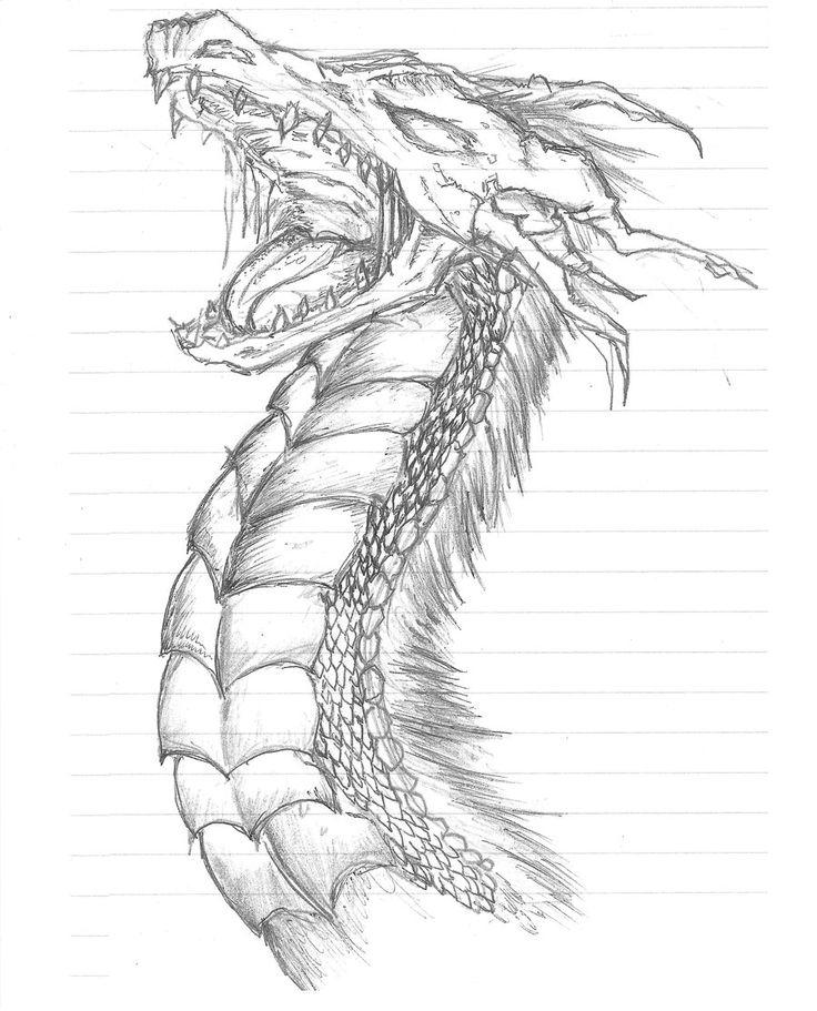 Love Dragon Head Coloring Pages