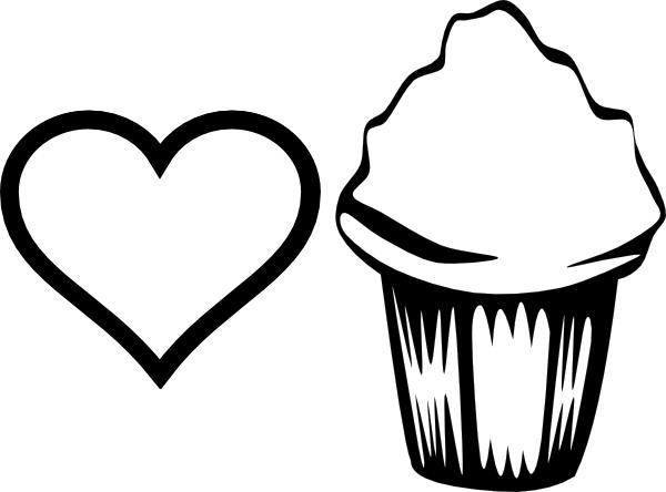 Love Happy Birthday Cupcake Coloring Pages