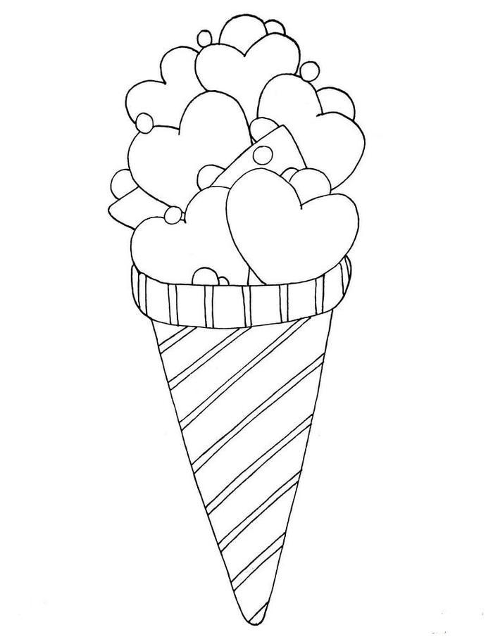 Love Ice Cream Coloring Pages