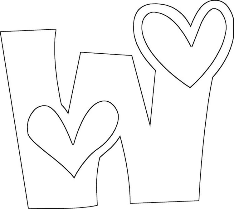 Love W Free Alphabet Coloring Pages
