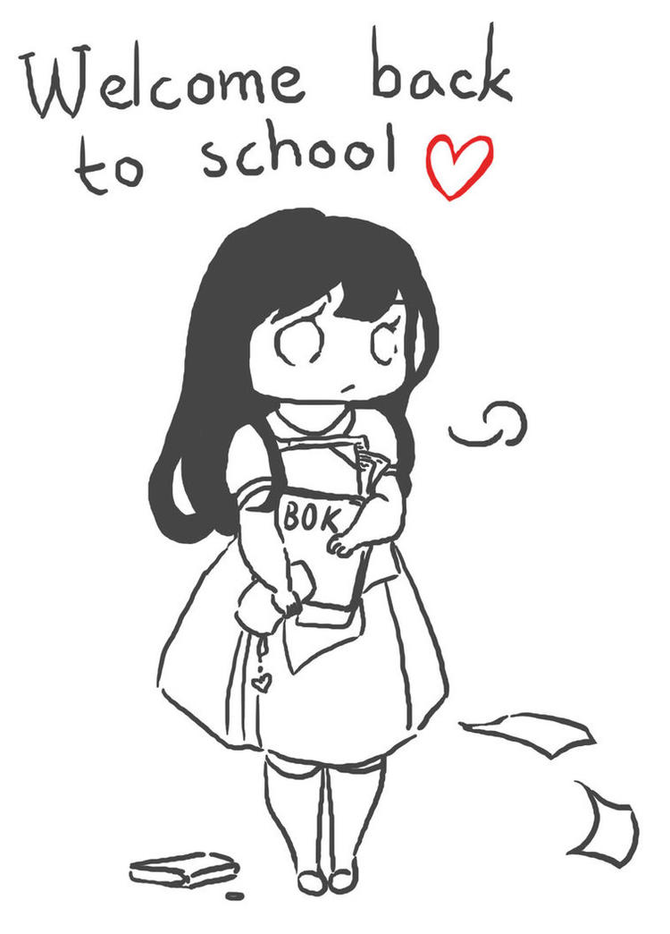 Love Welcome Back To School Coloring Pages
