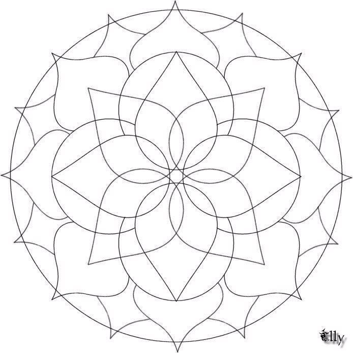 Lovely Free Simple Mandala Coloring Pages