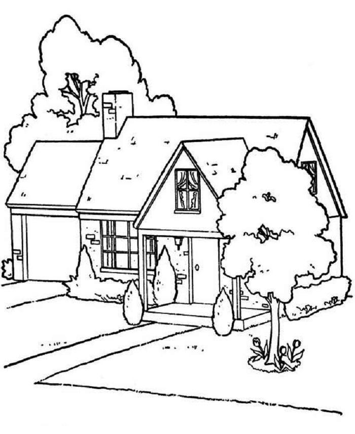 Lovely House Coloring Pages