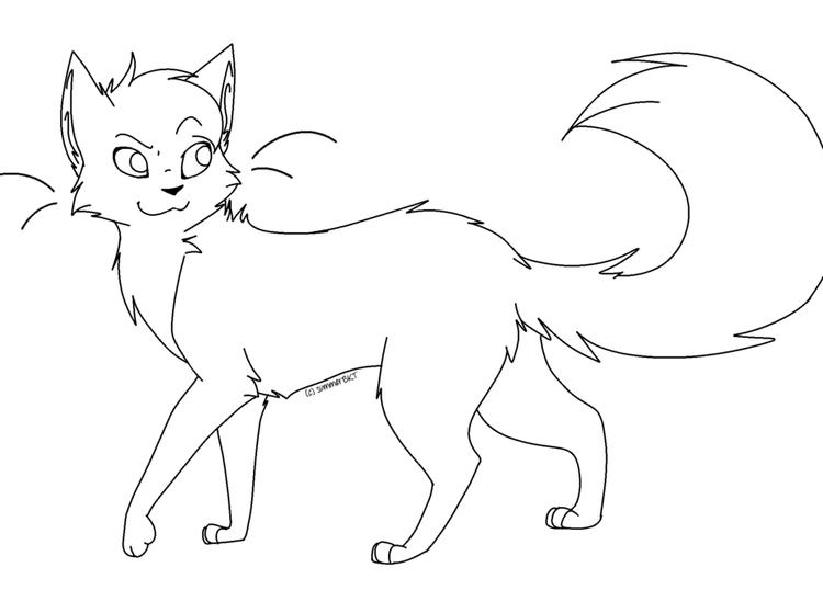 Lovely Warrior Cat Coloring Pages