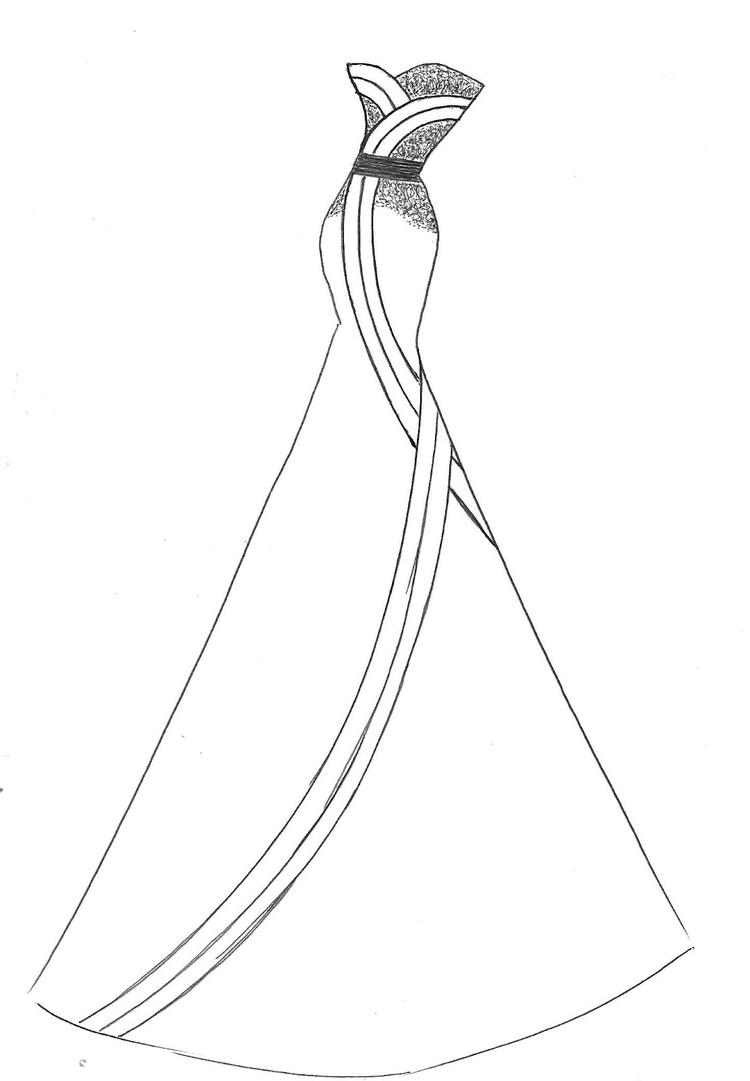 Lovely Wedding Dress Coloring Pages 2