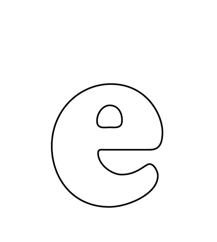 Lowercase E Alphabet Coloring Pages Free