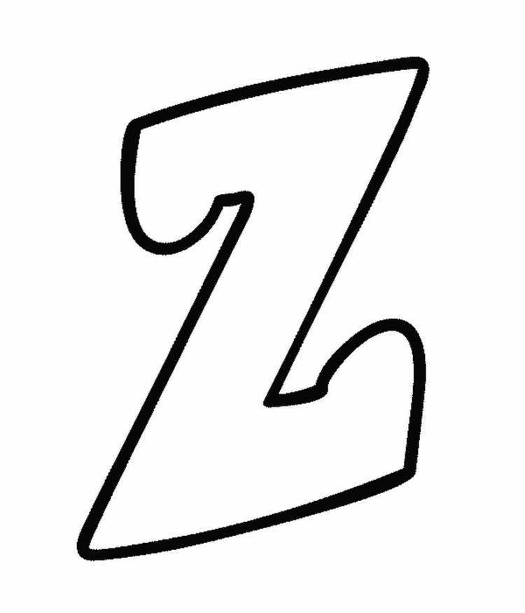 Lowercase Z Alphabet Coloring Pages