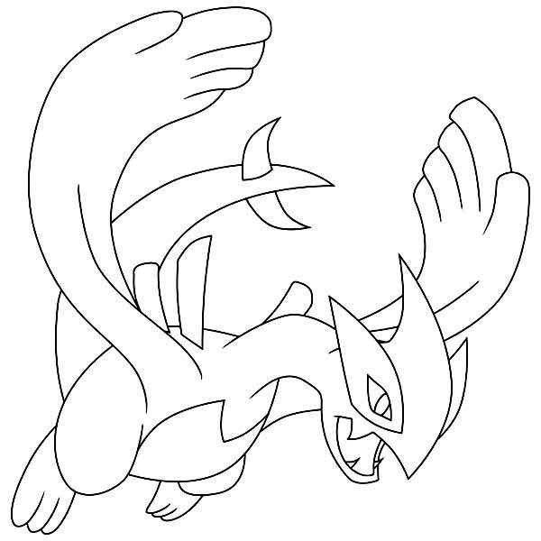 Lugia Legendary Pokemon Coloring Page
