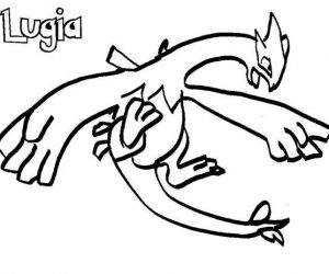 Lugia pokemon is flying coloring pages