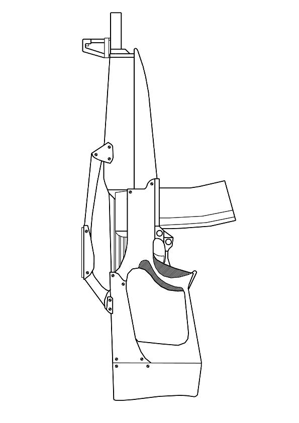 Machine Gun Coloring Pages To Print