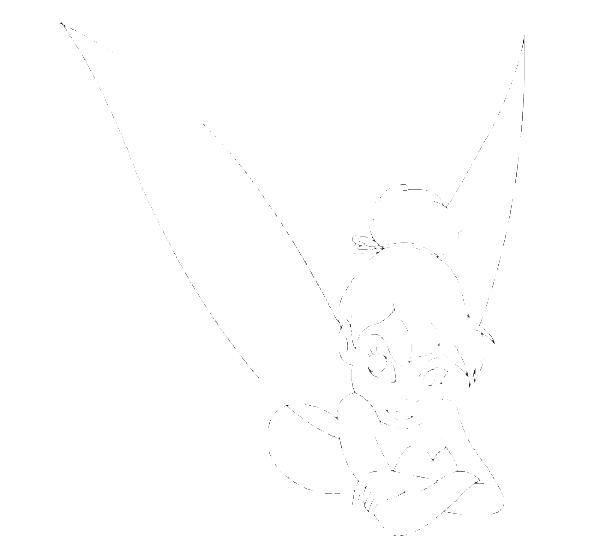 Mad Tinkerbell Coloring Page