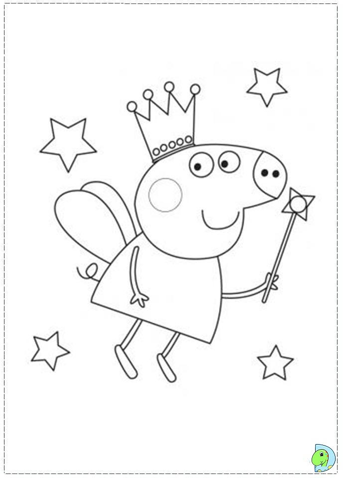 Magic Peppa Pig Birthday Coloring Pages
