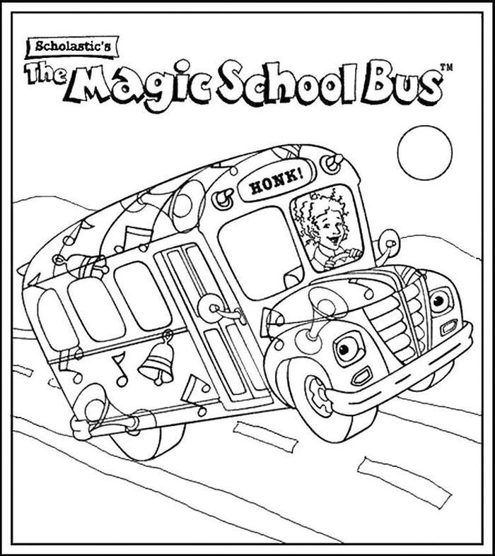 Magic School Bus Colorinng Pages
