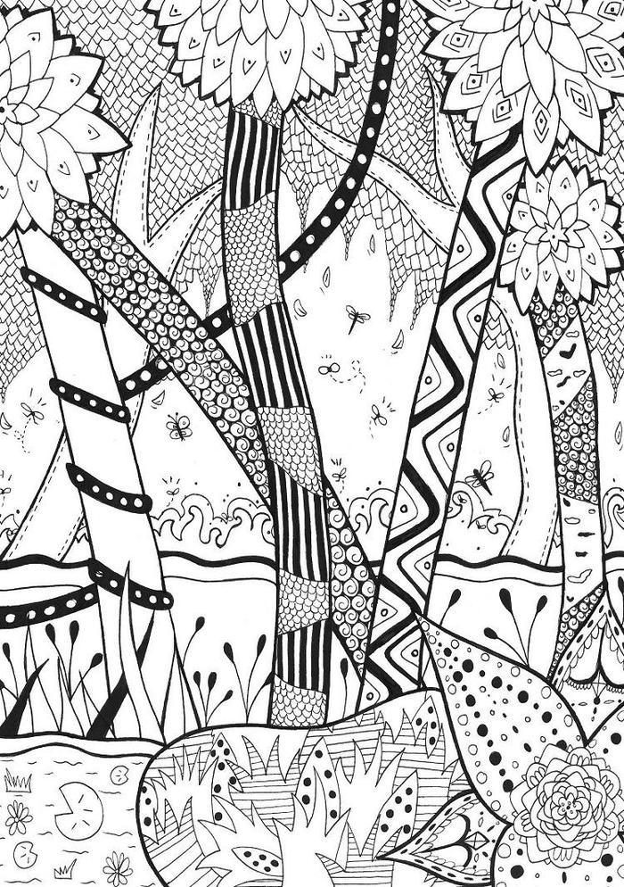 Magical Nature Coloring Pages