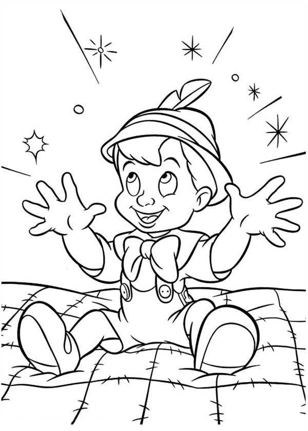 Magical Night For Pinocchio Coloring Pages