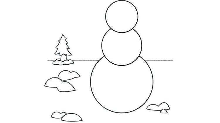 Make A Snowman Coloring Pages