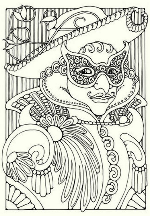 Make Up Carnival Coloring Pages