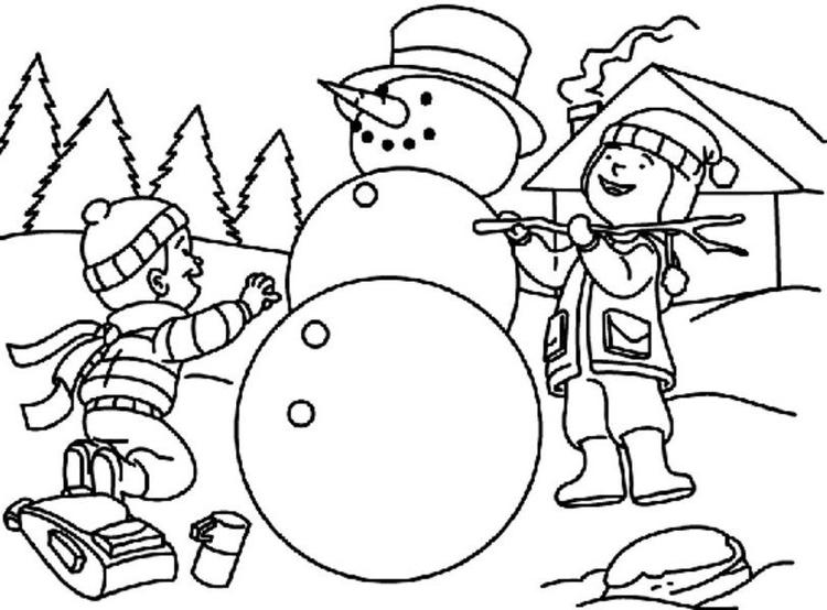 Making Snowman Coloring Pages For Kids