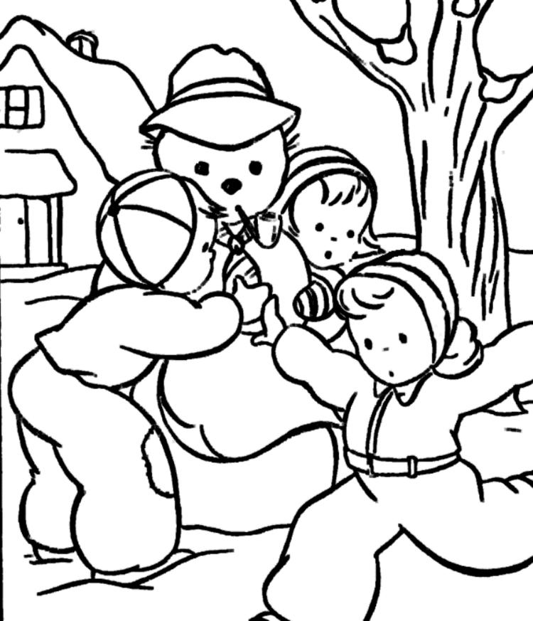 Making Snowman Coloring Pages To Print