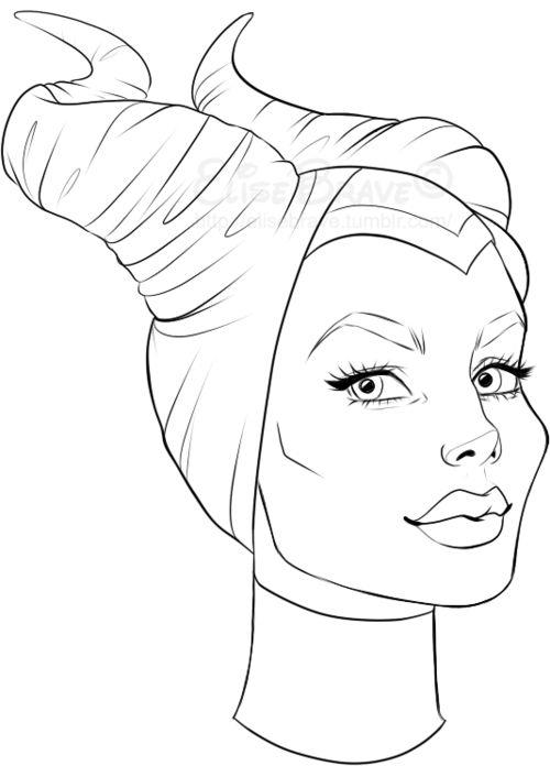Maleficent Angelina Jolie Coloring Pages