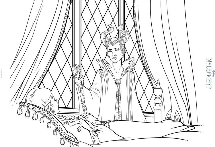 Maleficent Coloring Pages And Princess Aurora