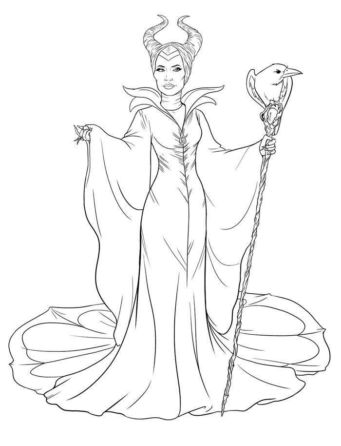 Maleficent Coloring Pages Angelina Jolie