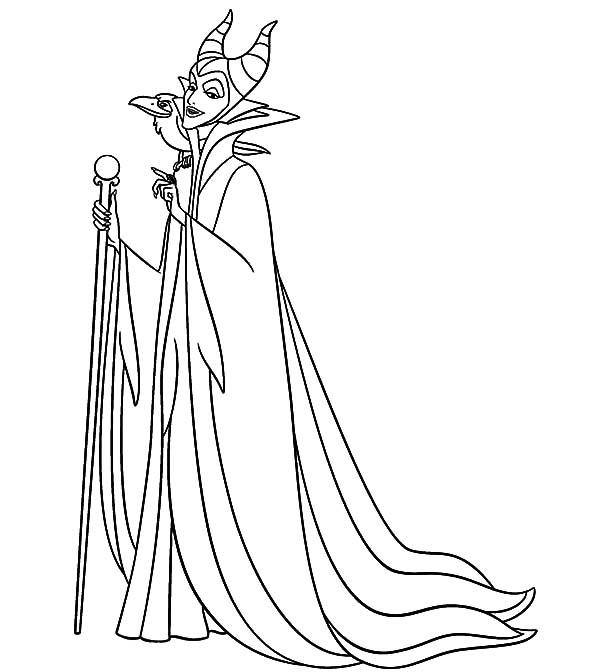 Maleficent Coloring Pages For Kids