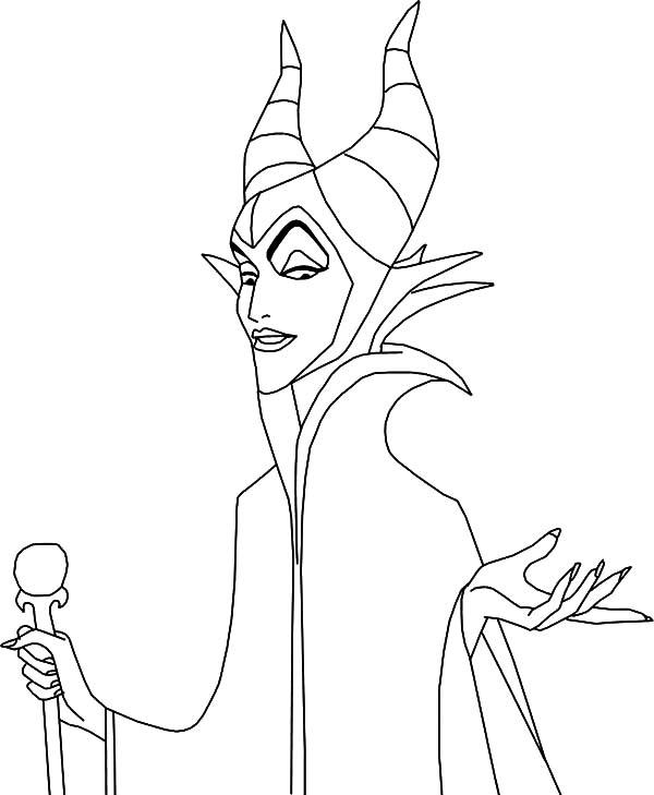 Maleficent Coloring Pages Free To Print
