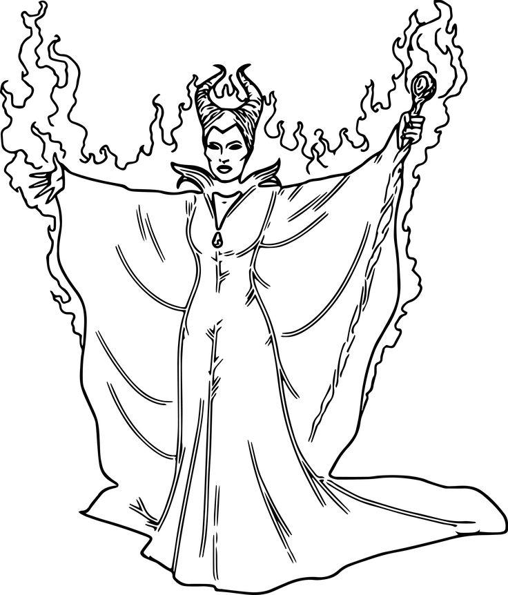 Maleficent Coloring Pages Magic