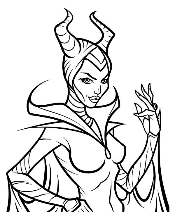 Maleficent Coloring Pages Printable
