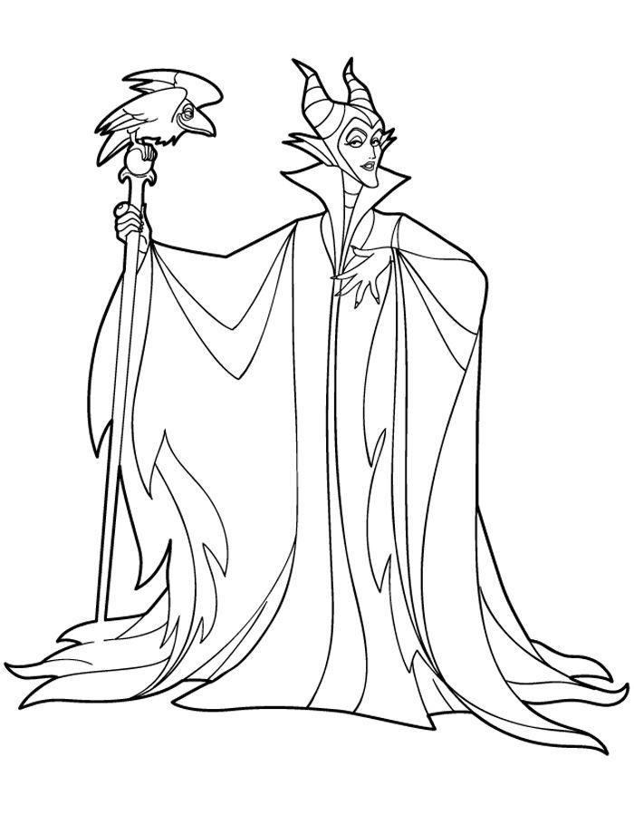 Maleficent Coloring Pages To Print