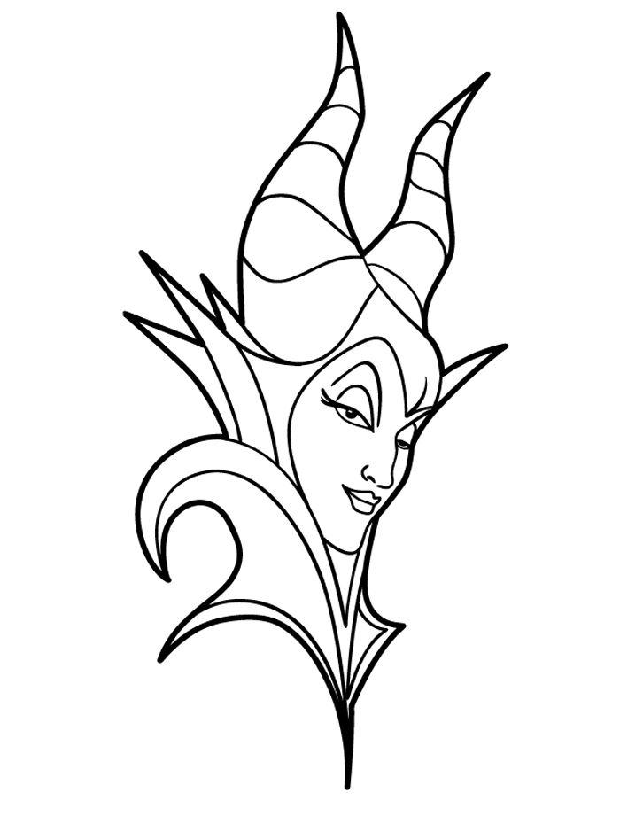 Maleficent Face Coloring Pages
