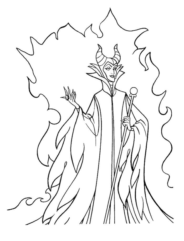 Maleficent Magic Coloring Pages