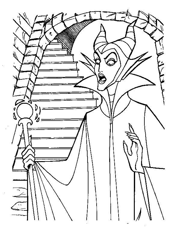 Maleficent Sleeping Beauty Coloring Pages