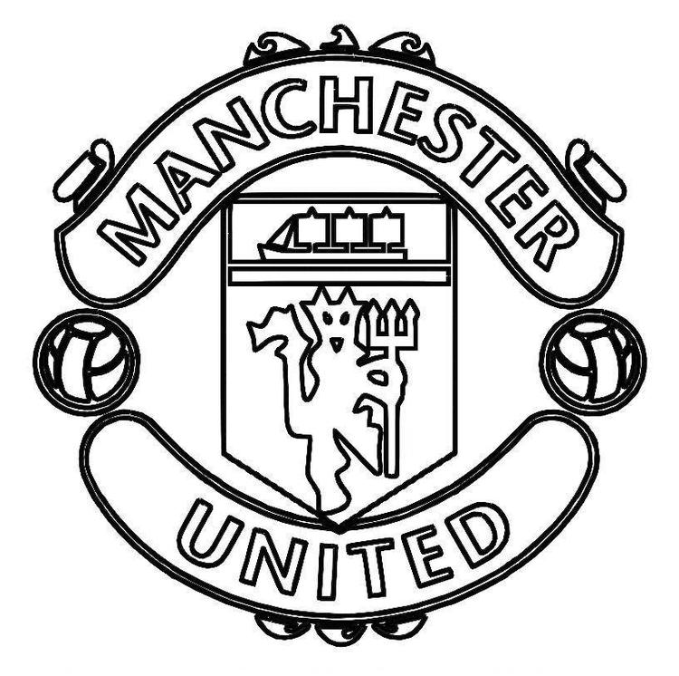 Manchester United Logo Soccer Coloring Pages