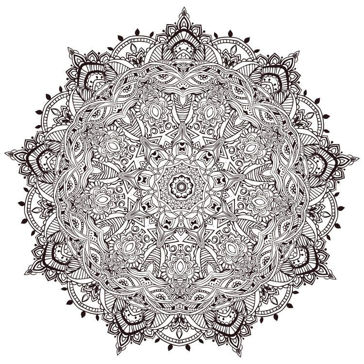 Mandala Coloring Pages Difficult For Adults