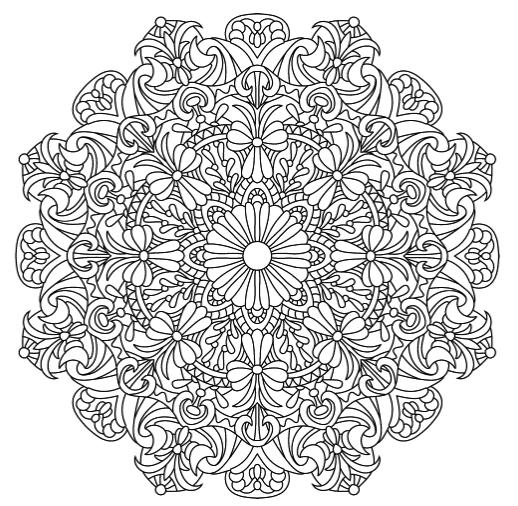 Mandala Coloring Pages Flower Wonders