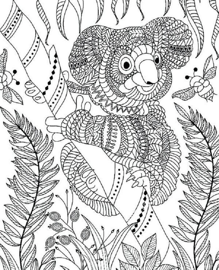 Mandala Koala Bear Coloring Pages