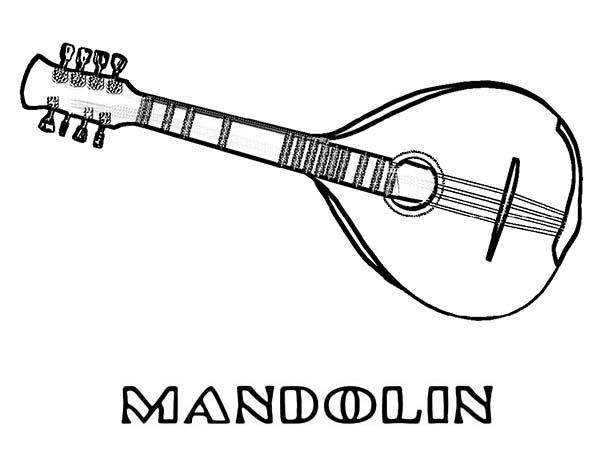 Mandolin Is A Musical Instruments Coloring Pages